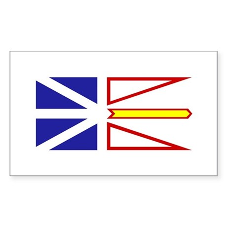 Newfoundland and Labrador Rectangle Sticker