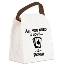 Love And Poker Canvas Lunch Bag