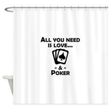 Love And Poker Shower Curtain