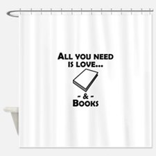 Love And Books Shower Curtain
