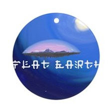 Flat Earth Round Ornament