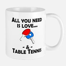 Love And Table Tennis Mugs
