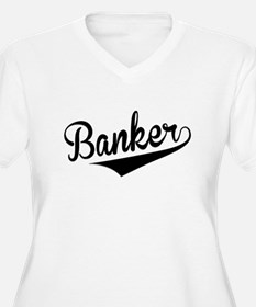 Banker, Retro, Plus Size T-Shirt