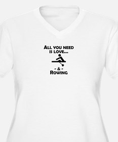 Love And Rowing Plus Size T-Shirt