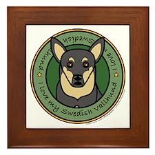 Love My Vallhund Framed Tile