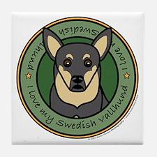 Love My Vallhund Tile Coaster