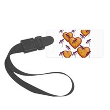 Love Hearts and Dragonflies Purple Haze Luggage Tag