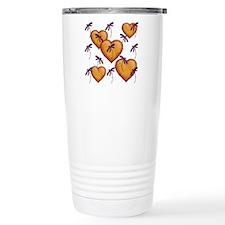 Love Hearts and Dragonflies Purple Haze Travel Mug