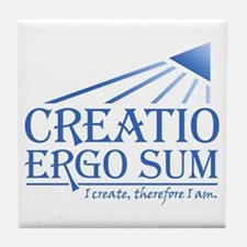 Creatio Ergo Sum Tile Coaster