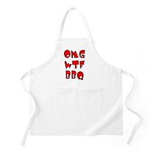 OMG WTF BBQ BBQ Apron