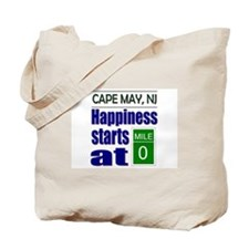 Happiness Starts at Mile 0 Tote Bag