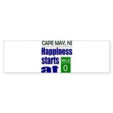 Happiness Starts at Mile 0 Bumper Bumper Sticker