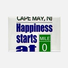 Happiness Starts at Mile 0 Rectangle Magnet