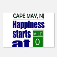 Happiness Starts at Mile 0 Postcards (Package of 8