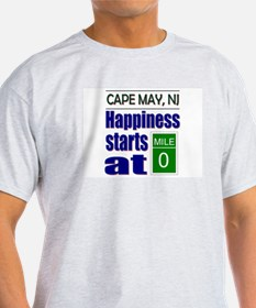 Happiness Starts at Mile 0 T-Shirt