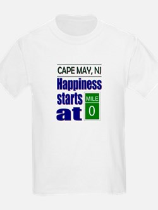 Happiness Starts at Mile 0 T-Shirt
