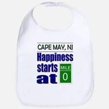 Happiness Starts at Mile 0 Bib