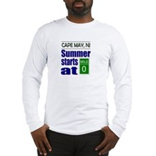 Summer Starts at Mile 0 Long Sleeve T-Shirt