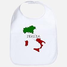 Italy Flag Map Bib