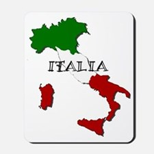 Italy Flag Map Mousepad