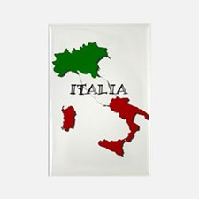 Italy Flag Map Rectangle Magnet (10 pack)