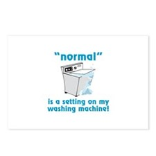 Normal is a setting on my washing machine! Postcar