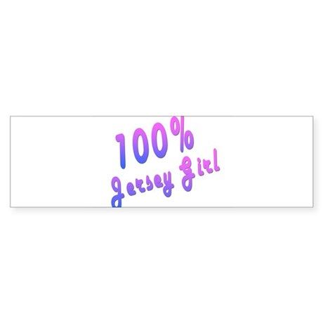 100% Jersey Girl Bumper Sticker