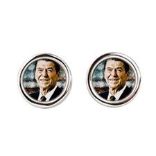 The Great President Ronald Reagan Round Cufflinks
