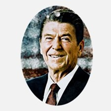 The Great President Ronald Reagan Ornament (Oval)