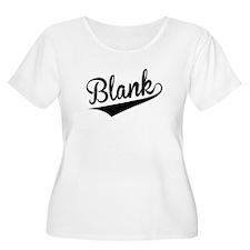 Blank, Retro, Plus Size T-Shirt