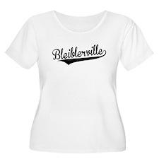 Bleiblerville, Retro, Plus Size T-Shirt
