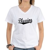 Blessing Womens V-Neck T-shirts