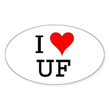 I Love UF Oval Decal