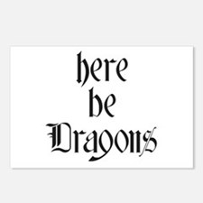 Here Be Dragons 001a Postcards (Package of 8)