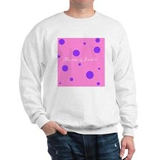 Violet polka-dot pink background Jennif Sweatshirt