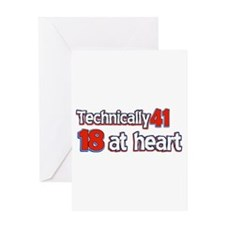 41 year old designs Greeting Card