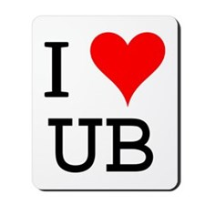 I Love UB Mousepad