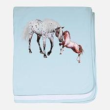 Horses Love Forever baby blanket