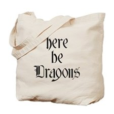 Here Be Dragons 001a Tote Bag
