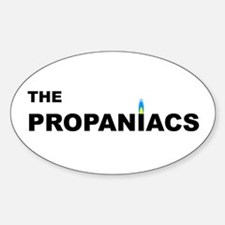 The Propaniacs Oval Decal