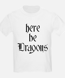 Here Be Dragons 001a T-Shirt