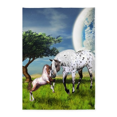 Horses Love Forever 5'x7'Area Rug