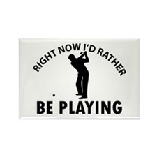 Golf playing designs Rectangle Magnet