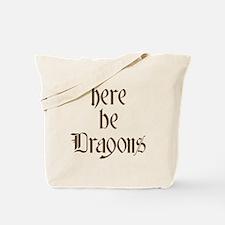 Here Be Dragons 001c Tote Bag
