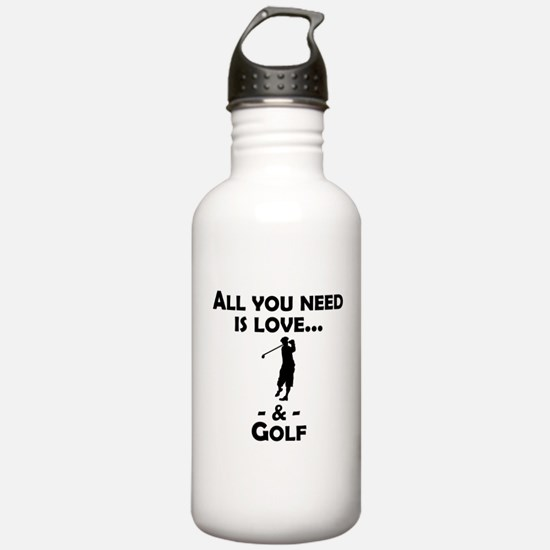 Love And Golf Water Bottle