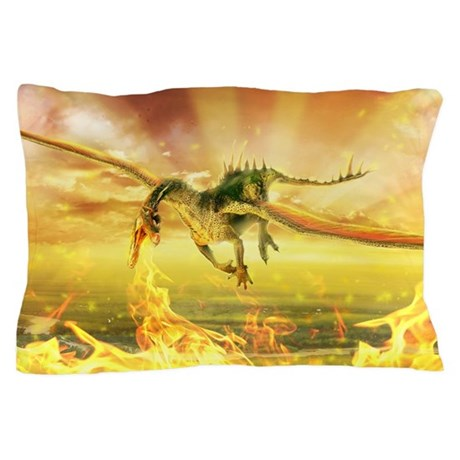 Fire Dragon Pillow Case
