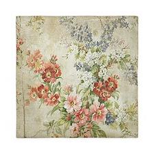 Beautiful Vintage Floral Queen Duvet