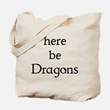 Here Be Dragons 002a Tote Bag