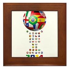 Brazil Soccer 2014 Framed Tile