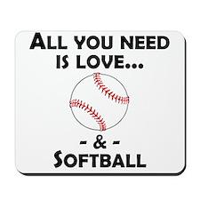 Love And Softball Mousepad